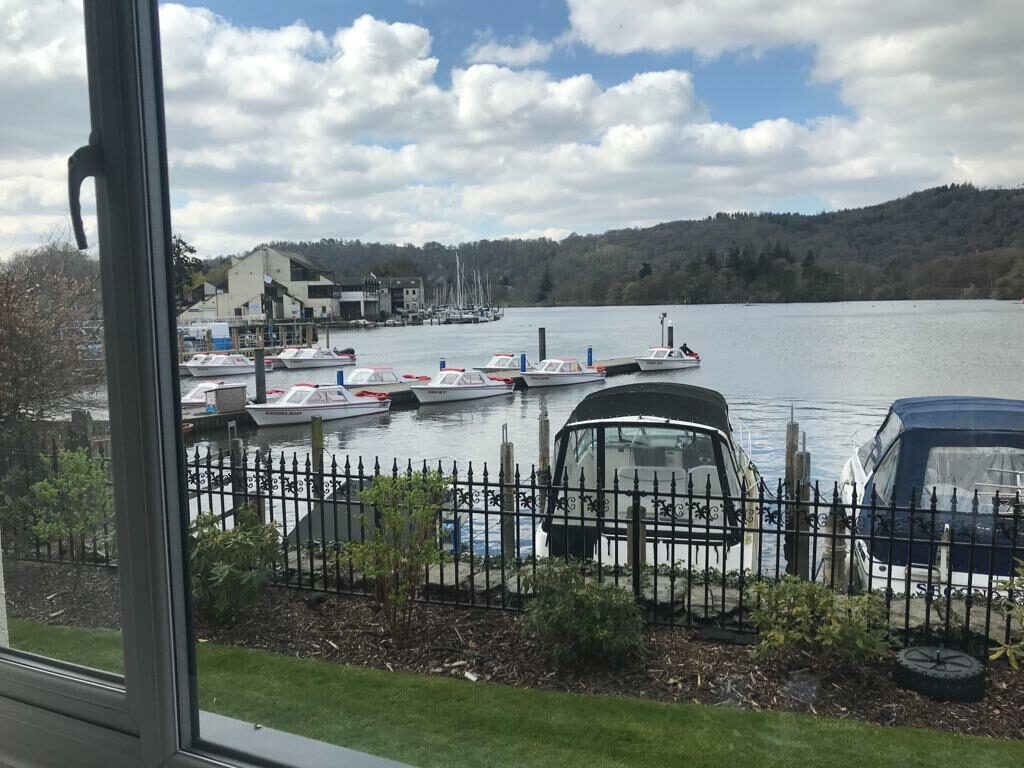 Stunning view of Lake Windermere from my hotel room window